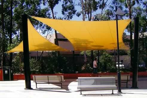 shade sails from malibu shade to cover large outdoor areas - Outdoor Shade