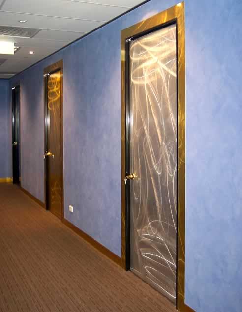 & Hot Metal laminate feature doors