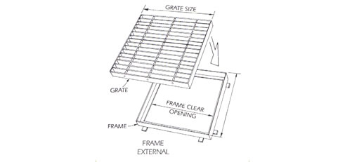 sump grate and frame