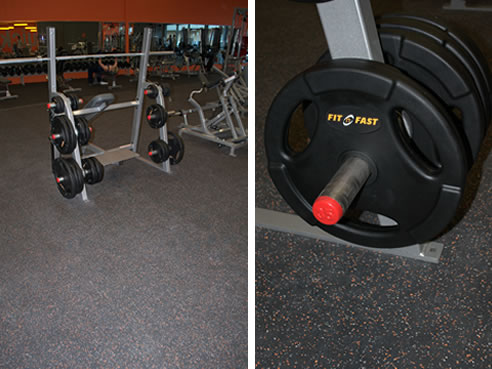 Recycled Rubber Flooring For Fitness Facilities Safety