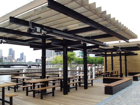 Heating Large Outdoor Areas With Heatray Trh Gas Heaters