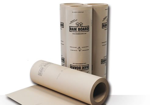 Temporary floor surface protection with ram board - Temporary floor covering for renters ...