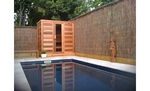 Log sauna with glass door installed in act ukko saunas st marys log sauna by pool planetlyrics Image collections