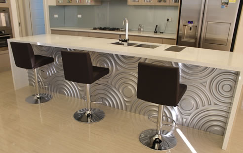 Remarkable Kitchen Bar Backs Jazzed Up With 3D Wall Panels Pabps2019 Chair Design Images Pabps2019Com