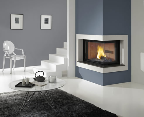 Two Sided Fireplace D100 Vad Chazelles Fireplaces