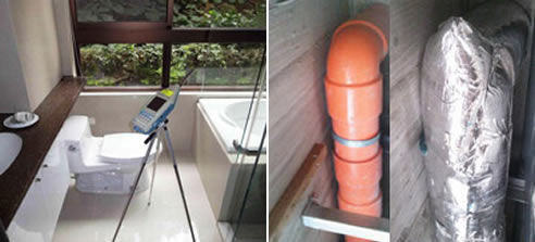 Bathroom pipe noise reduction solutions pyrotek for Bathroom noise cancellation