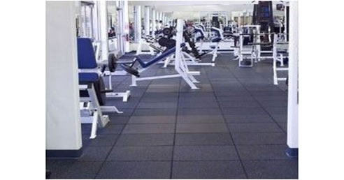 recycled rubber gym tiles