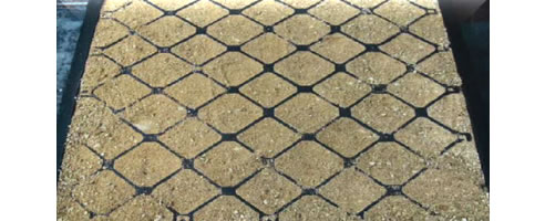 back filled permeable stable floor