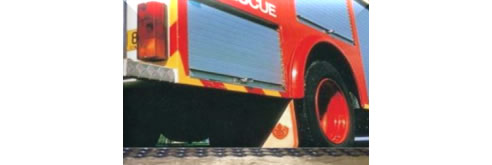 permeable drainage grid fire truck