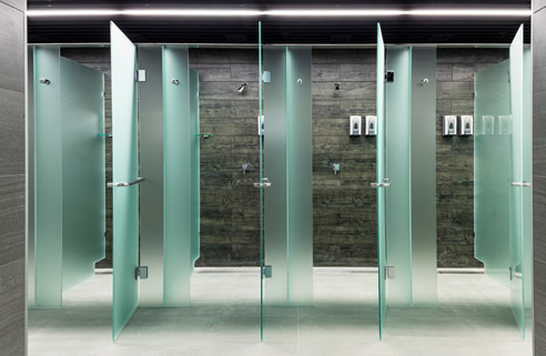 Commercial Glass Shower Cubicles Fethers Frameless