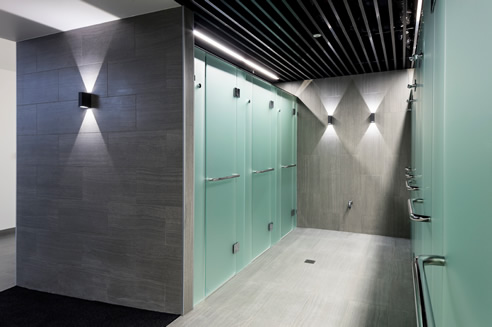 Satin Frost Toughened Glass Showers