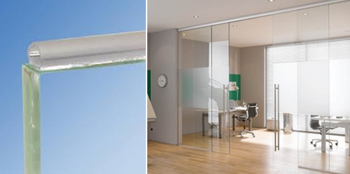 Glass Bumper Transparent Glass Door Seal