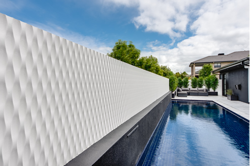 swimming pool feature wall