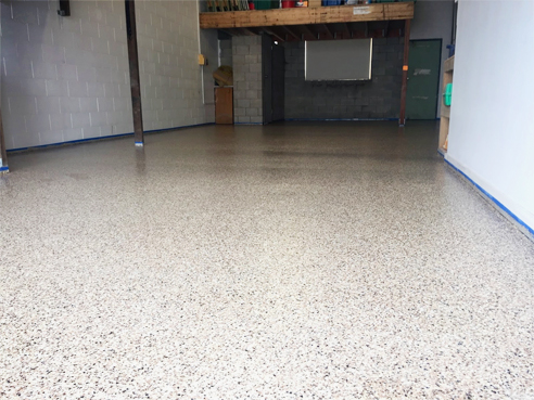 Blended chip flooring from LATICRETE
