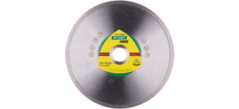 Continuous rim diamond blade