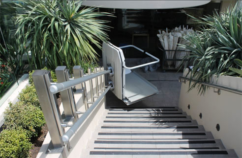 Wheelchair Curved Platform Stairlift C6