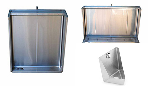 Commercial Stainless Steel Urinals from National Stainless Steel