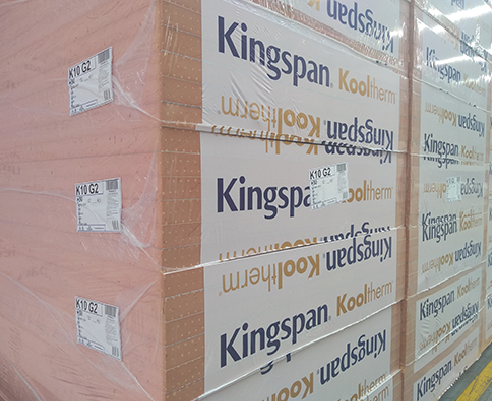 New Kooltherm K10 GM G2 Soffit Insulation Board from Kingspan