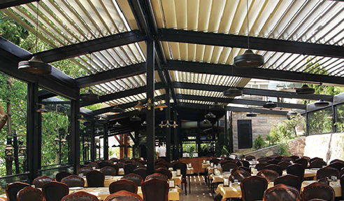 Retractable Roof for Outdoor Spaces from Designer Shade Solutions