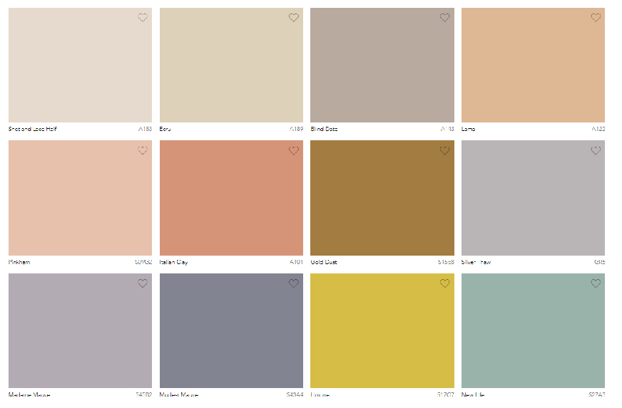 Seasonal Paint Trends - Summer Colour Palette