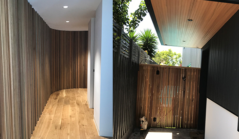 Spotted Gum Trident Cladding from Hazelwood & Hill