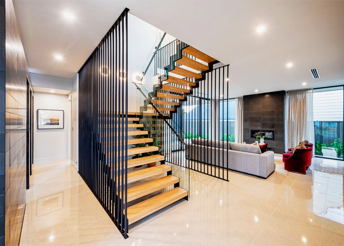 Custom American Oak Staircase by S&A Stairs