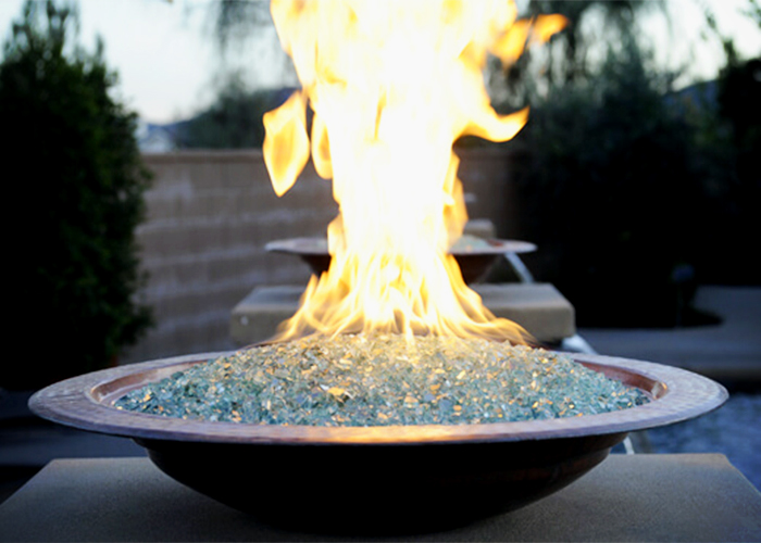 Decorative Glass for Fire Pits from Schneppa Glass