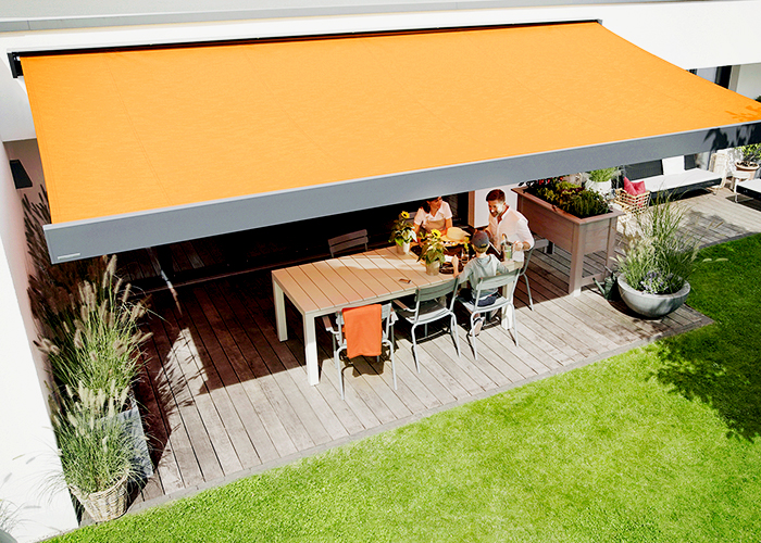 Awnings Featuring Recycled Fabrics from Blinds by Peter Meyer