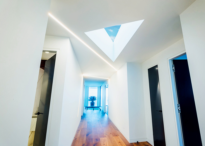 Custom-shaped Roof Windows for Modern Home by Atlite Skylights