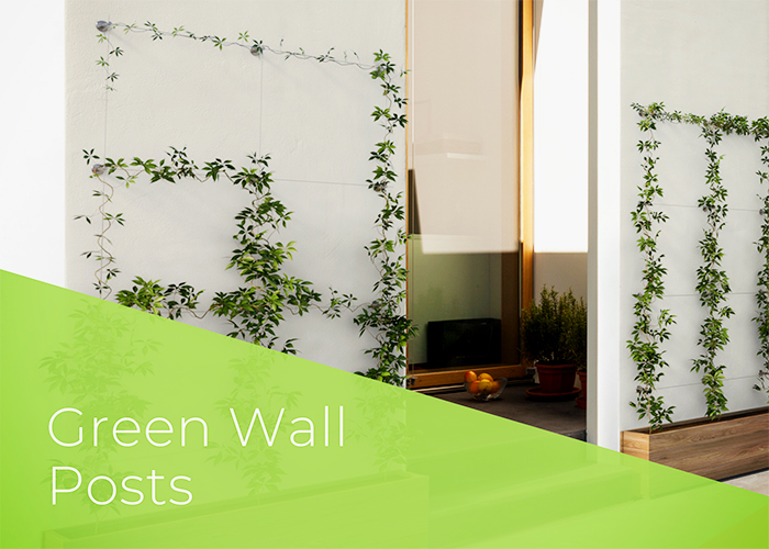 Green Wall Design - Greenline Post Kits from Miami Stainless