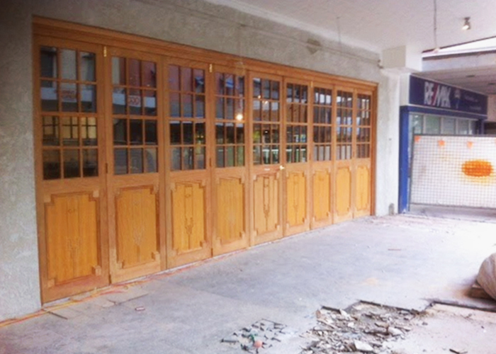 Rustic Commercial Timber Doors from Wilkins Windows
