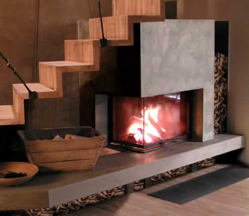 Lovely Cheminees Chazelles corner fireplaces EN61