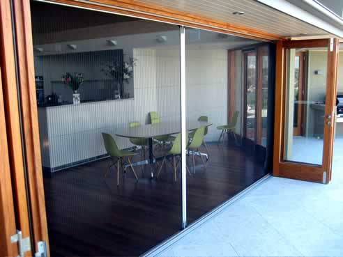 Pleated and retractable insect screens by artilux australia for Retractable insect screens