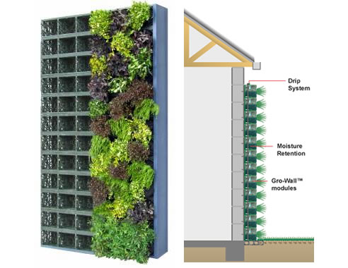 gro wall vertical garden from atlantis water management. Black Bedroom Furniture Sets. Home Design Ideas