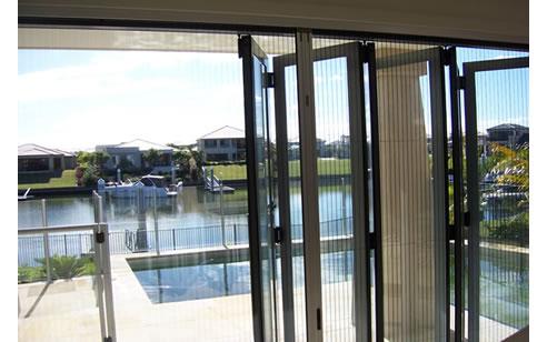 Bi fold door insect screen from national screens for Folding screen door