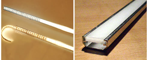 LED Strip lighting & LED Turbostrip and mounting track with lens from Superlight azcodes.com