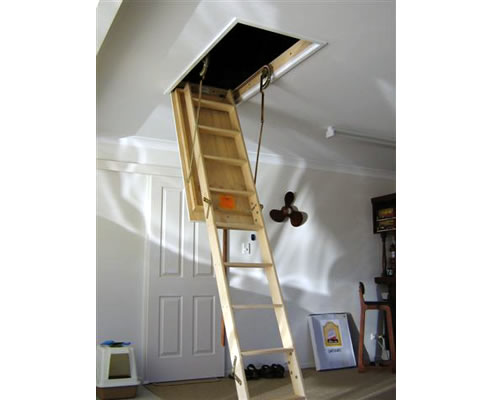 Timber Ceiling Space Ladder From Access Ladders Queensland
