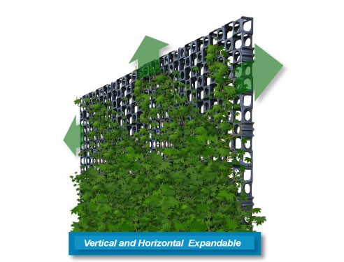 gro wall facade vertical garden system atlantis corporation. Black Bedroom Furniture Sets. Home Design Ideas
