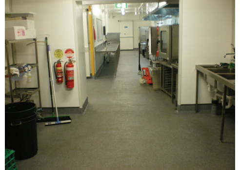 Commercial Kitchen Flooring Application Rhino Linings