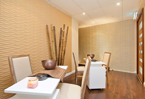 Decorative Textured Walls at Eden Spa 3D Wall Panels Wetherill Park