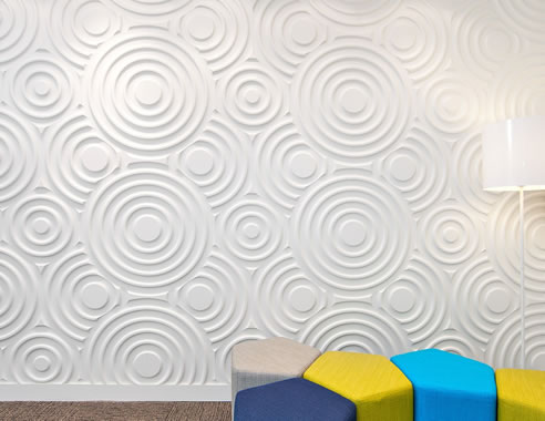 Large Circles Textured Wall Design 3d Wall Panels