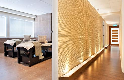 Decorative Textured Walls At Eden Spa 3d Wall Panels