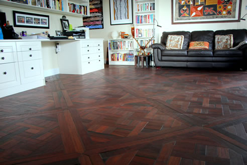 recycled hardwood parquetry floor