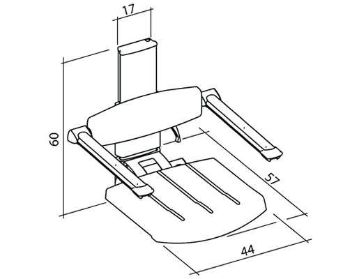 Shower Seat Dimensions