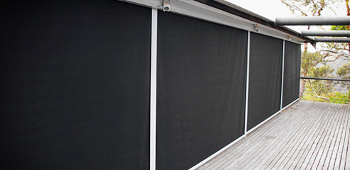 Teknica 4000 exterior roller awning with a deep side channel from Blinds by Peter Meyer