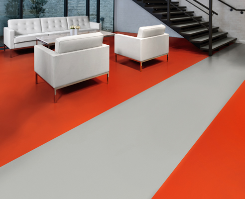 Red Solid Colour Sheet Flooring