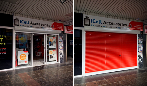 Aluminium security shutters from Rollashield