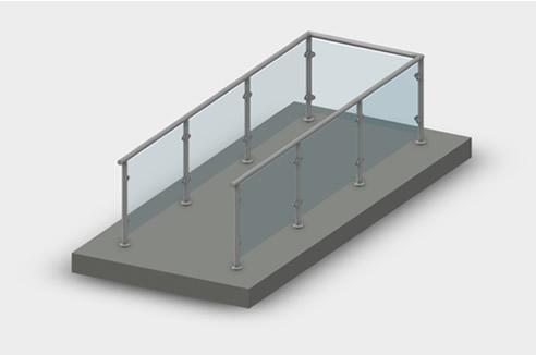 Revit Files for Glass and Wire Railing Systems | Miami Stainless