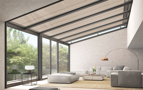 exterior glass roof awning