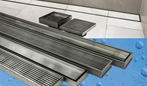 Enhance Bathroom Floors with Modern Stainless Steel Drainage from Hydro